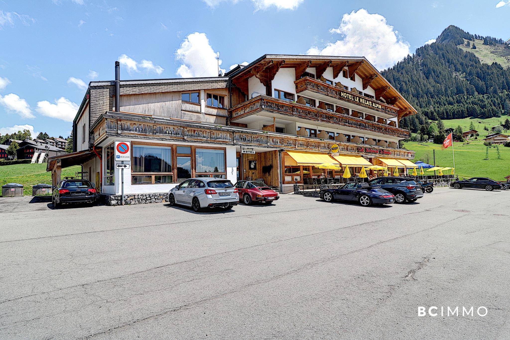 BC Immo - Société SA détentrice de 2 beaux hôtels au Col des Mosses (Vaud) à vendre - H-21-001A