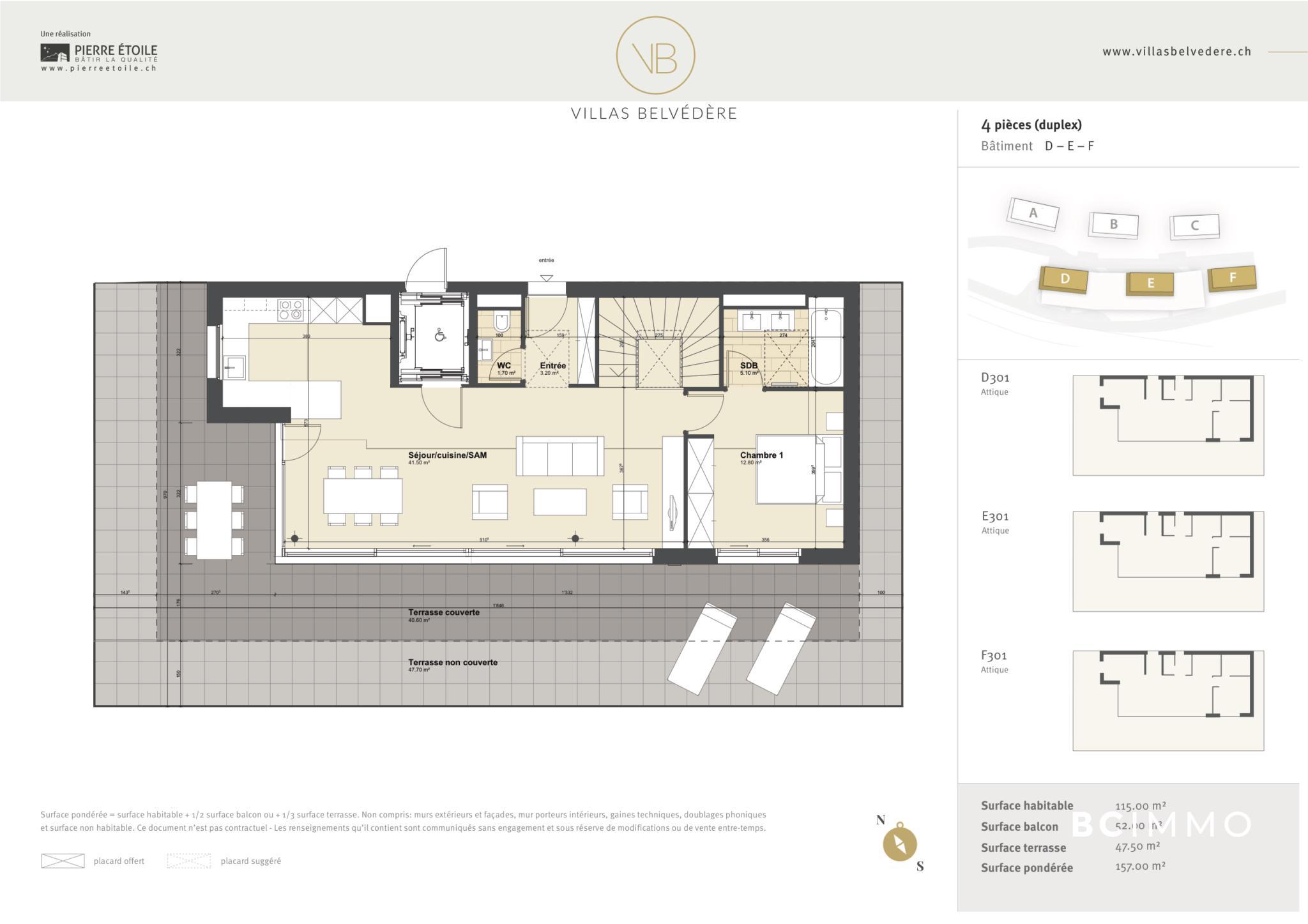 BC Immo - Appartement en attique - Glion - 1823HBVB-E301