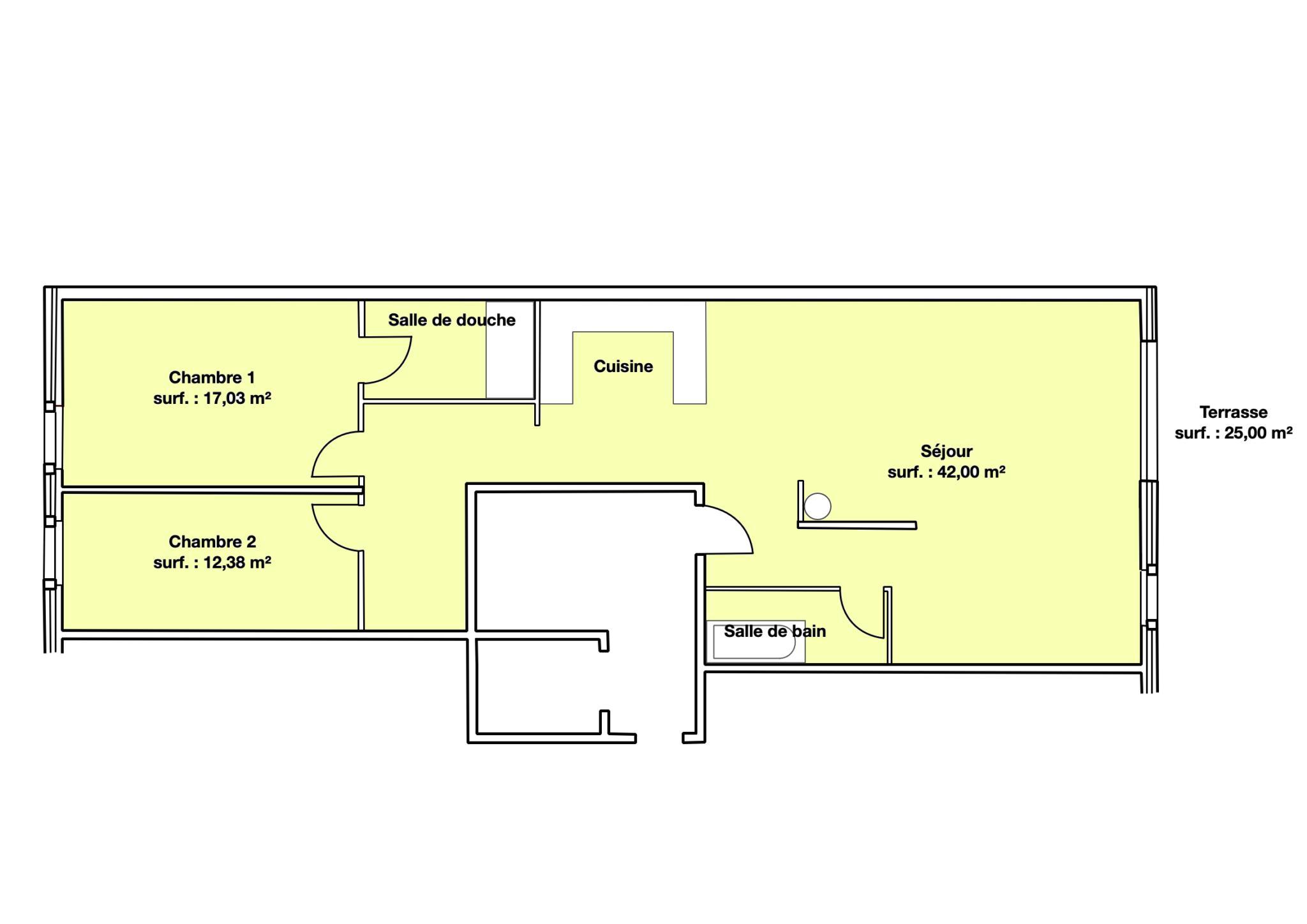 BC Immo - Bel appartement avec grande terrasse dans le bourg - 1030HB03