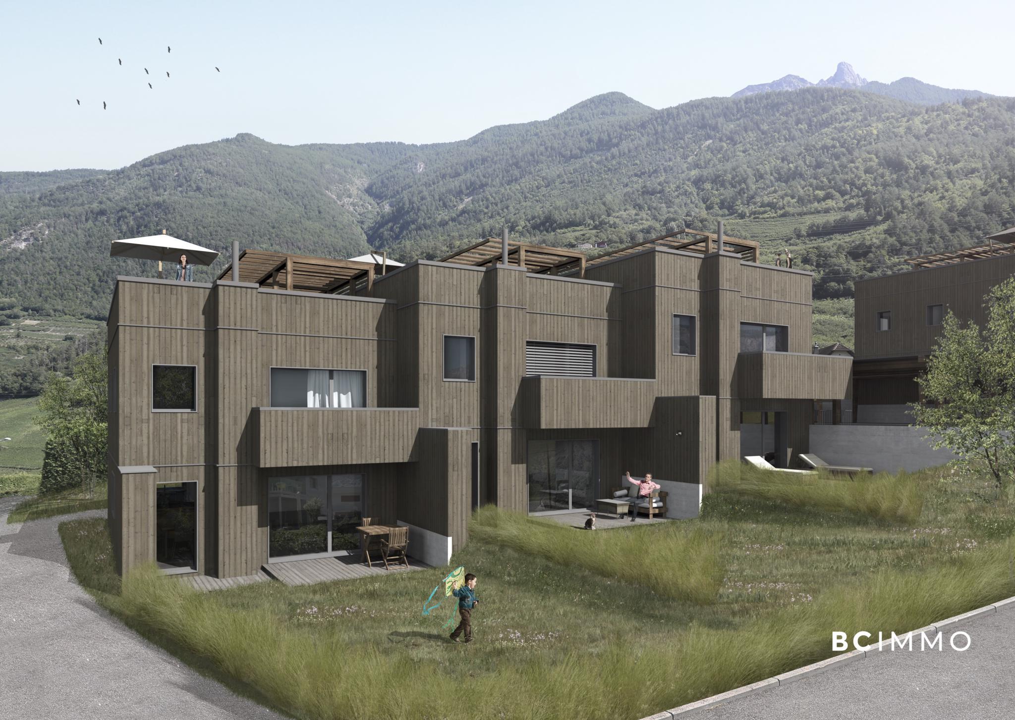 BC Immo - Villa neuve avec terrasse sur le toit et jardin - LTDS2GS