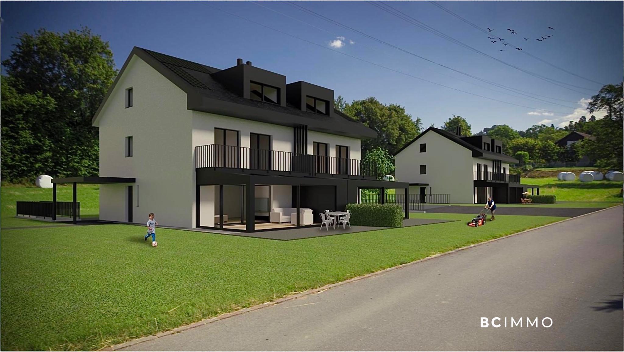BC Immo - Magnifique projet de villas jumelles avec garage souterrain sur la commune de Jouxtens-Mézery - 1008KG64-3
