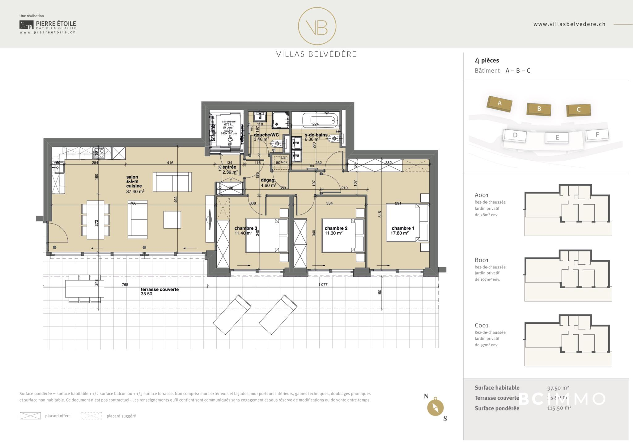 BC Immo - Appartement avec jardin - Glion  - 1823HBVB-C001