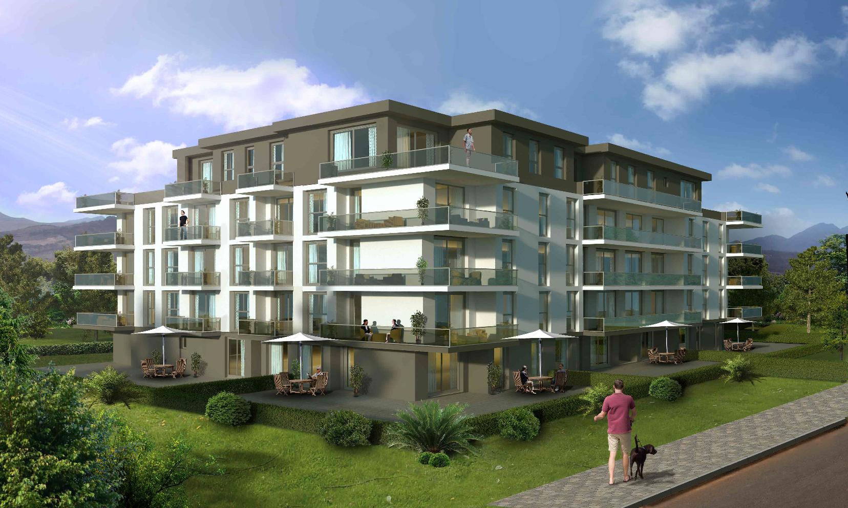 Appartement de 2.5 pces au 1er étage dans une nouvelle promotion proche du centre-ville