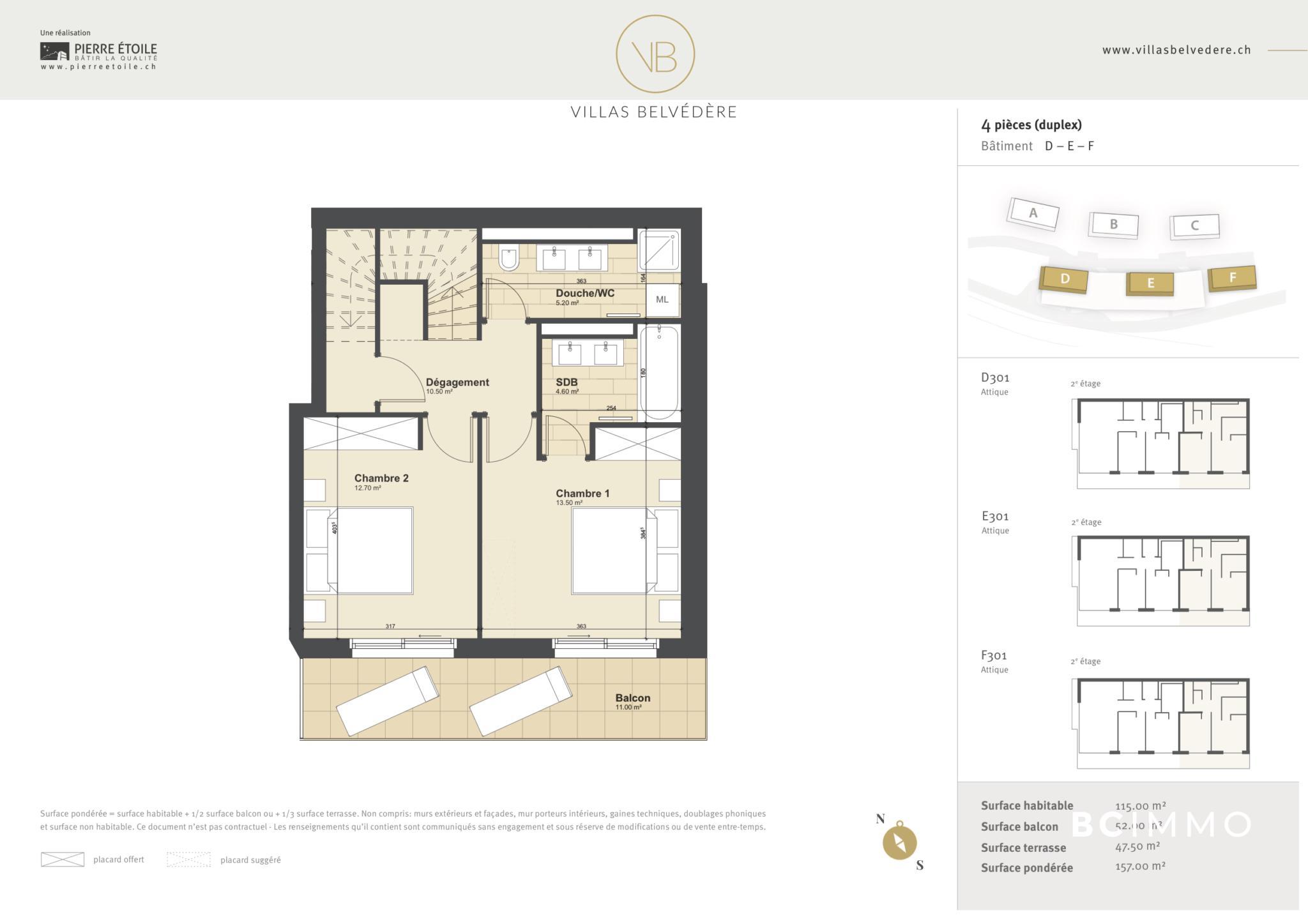 BC Immo - Appartement en attique - Glion - 1823HBVB-D301