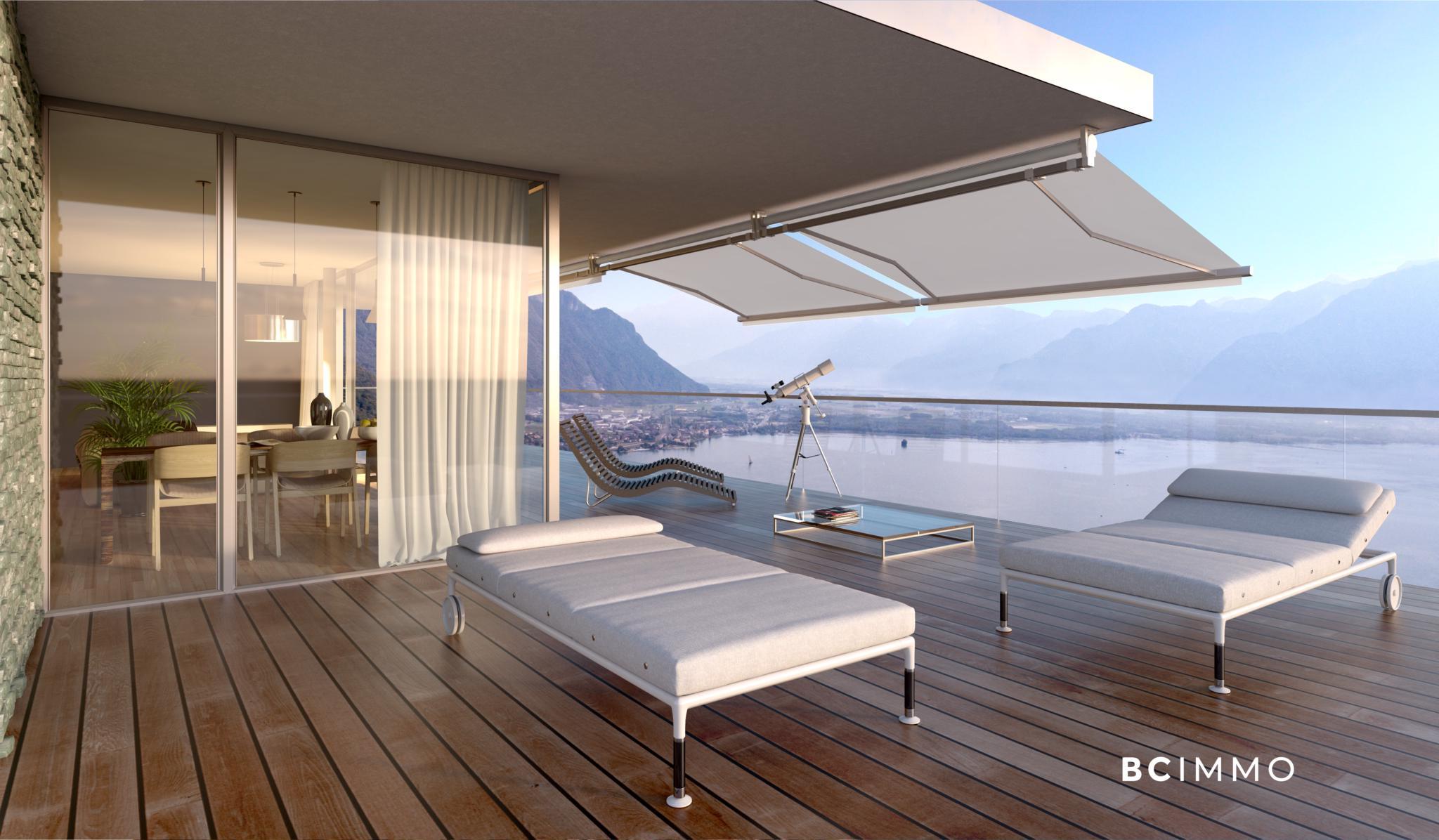 BC Immo - Appartement avec vue panoramique - Glion - 1823HBVB-C201